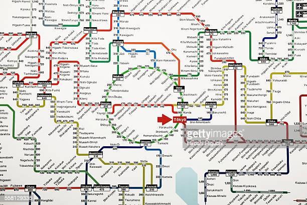 Tokyo, Train Map
