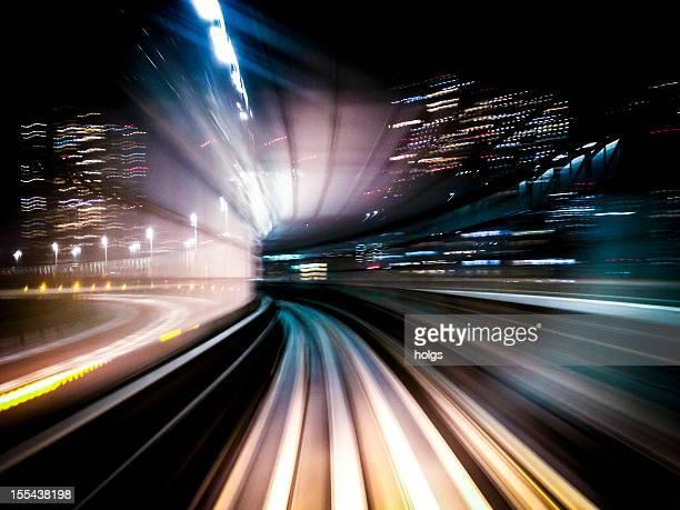 Tokyo Transit System Line Long Exposure shot iPhone 4s Mobilestock
