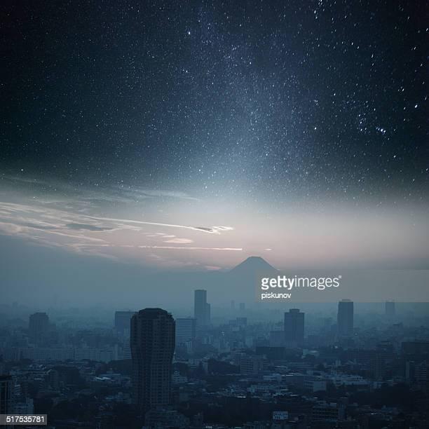 東京の夜の照明