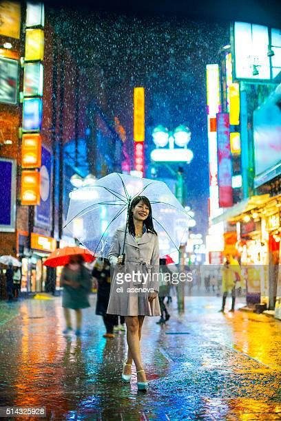 Tokyo Woman in the Rain
