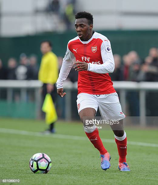 Tolaji Bola of Arsenal during the match between Arsenal U23 and Derby County U23 at London Colney on January 6 2017 in St Albans England