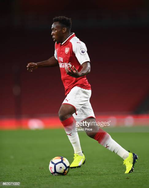 Tolaji Bola of Arsenal during the Premier League 2 match between Arsenal and Sunderland at Emirates Stadium on October 16 2017 in London England
