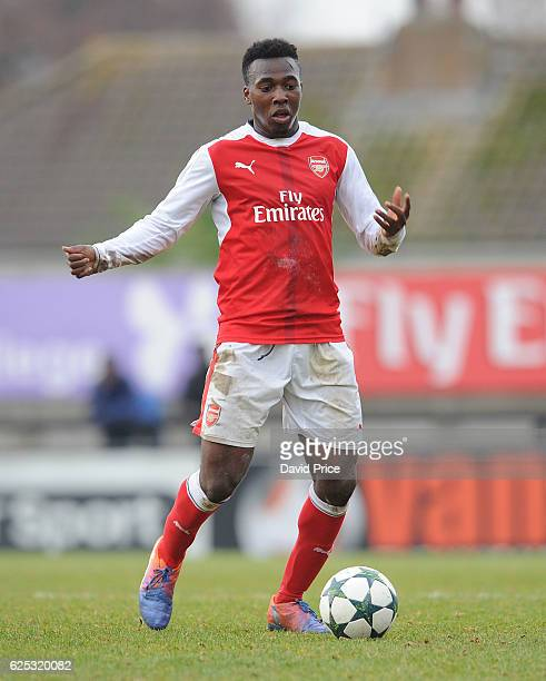 Tolaji Bola of Arsenal during the UEFA Youth League match between Arsenal and Paris Saint Germain at Meadow Park on November 23 2016 in Borehamwood...