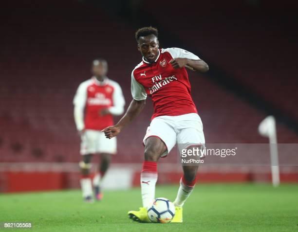 Tolaji Bola of Arsenal U23s during Premier League 2 Division 1match between Arsenal Under 23s against Sunderland Under 23s at Emirates Stadium London...