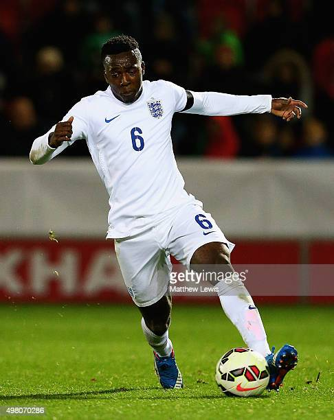 Tolaji Bola of England in action during the International U17 Friendly match between England U17 and Germany U17 at the New York Stadium on November...