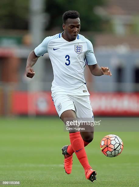 Tolaji Bola of England U18 during the international friendly match between England U18 and Italy U18 at Highbury Stadium on September 1 2016 in...