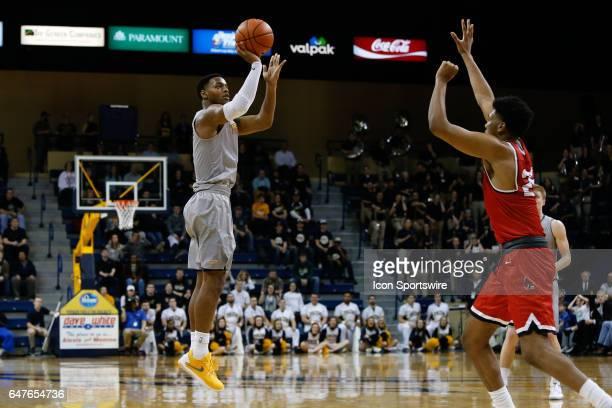 Toledo Rockets guard Jonathan Williams shoots a jump shot during a regular season basketball game between the Ball State Cardinals and the Toledo...