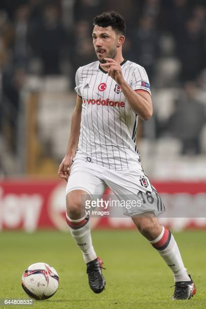 Tolgay Arslan of Besiktas JKduring the UEFA Europa League round of 16 match between Besiktas JK and Hapoel Beer Sheva on February 23 2017 at the...