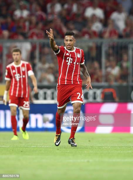 Tolisso of Bayern Muenchen celebrates after he scored during the Bundesliga match between FC Bayern Muenchen and Bayer 04 Leverkusen at Allianz Arena...