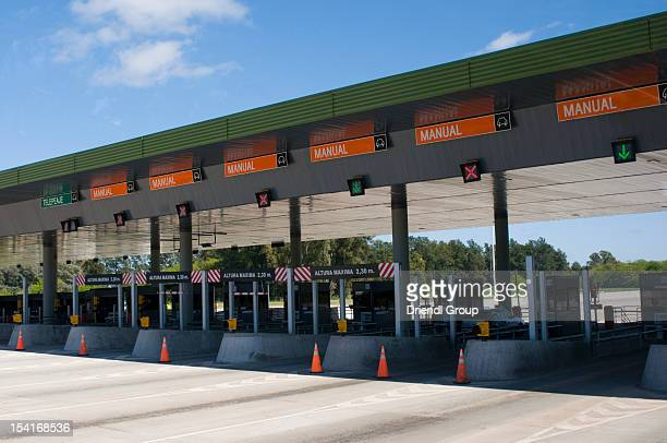 A toll plaza on the Pan Americana Highway