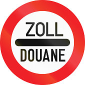 Austrian sign at a toll station. Zoll and Douane both mean toll in english.