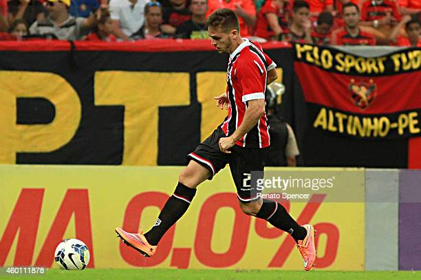 Toloi of Sport Recife in action during the the Brasileirao Series A 2014 match between Sport Recife and Sao Paulo at Arena Pernambuco Stadium on...