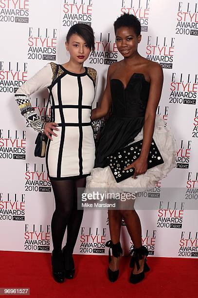 Tolula Adeyemi and Leah Weller arrives for the ELLE Style Awards 2010 at the Grand Connaught Rooms on February 22 2010 in London England