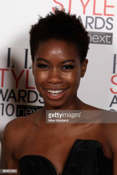 Tolula Adeyemi arrives for the ELLE Style Awards 2010 at the Grand Connaught Rooms on February 22 2010 in London England