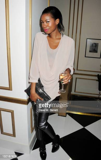 Tolula Adeyemi attends a launch party for 'The House Of Rush' beauty sanctuary at 200 Piccadilly on November 10 2011 in London England