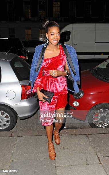 Tolula Adeyemi attends an Elizabeth Arden event to toast its new Eight Hour Cream on March 8 2012 in London United Kingdom