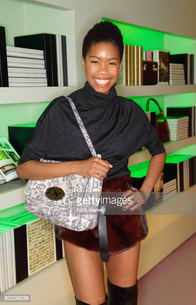 Tolula Adeyemi attends party to celebrate launch of new Prada book on November 18 2009 in London England