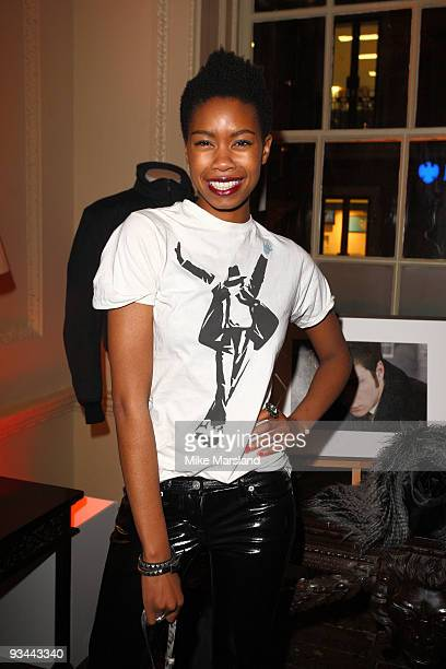 Tolula Adeyemi attends the After party for the London Premiere of 'Nowhere Boy' hosted by Quintessentially at The House of St Barnabas on November 26...
