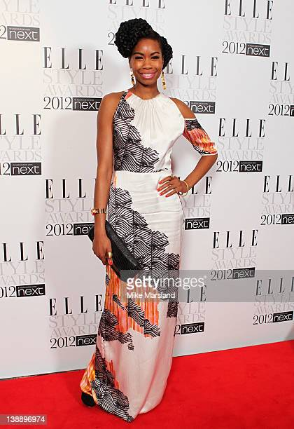 Tolula Adeyemi attends the ELLE Style Awards 2012 at The Savoy Hotel on February 13 2012 in London England