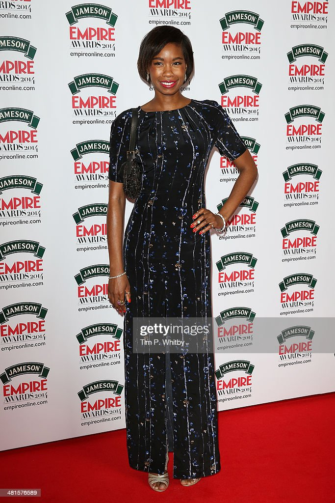 Tolula Adeyemi attends the Jameson Empire Awards 2014 at the Grosvenor House Hotel on March 30, 2014 in London, England. Regarded as a relaxed end to the awards show season, the Jameson Empire Awards celebrate the film industry's success stories of the year with winners being voted for entirely by members of the public. Visit empireonline.com/awards2014 for more information.