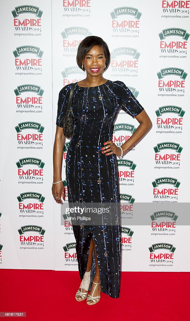 <a gi-track='captionPersonalityLinkClicked' href=/galleries/search?phrase=Tolula+Adeyemi&family=editorial&specificpeople=5042423 ng-click='$event.stopPropagation()'>Tolula Adeyemi</a> attends the Jameson Empire Film Awards at The Grosvenor House Hotel on March 30, 2014 in London, England.