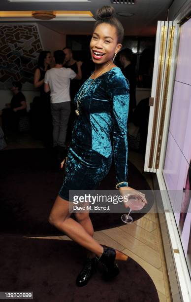 Tolula Adeyemi attends the launch of 'She Died of Beauty' as part of London Fashion Week Autumn/Winter 2012 at The Club at The Ivy on February 17...