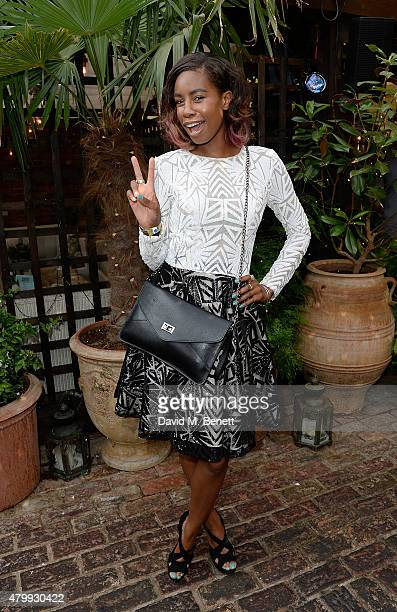 Tolula Adeyemi attends the Warner Summer Party in association with British GQ at Shoreditch House on July 8 2015 in London England