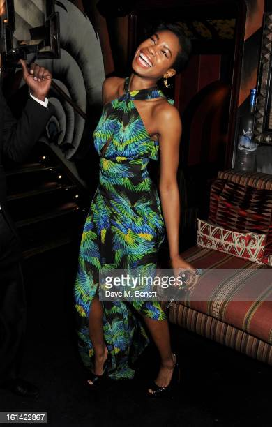Tolula Adeyemi attends The Weinstein Company and Entertainment Film Distributors PostBAFTA Party hosted by Chopard and Grey Goose at LouLou's on...