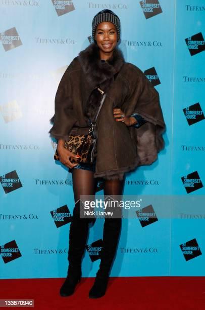 Tolula Adeyemi attends Tiffany Co Presents Skate at Somerset House on November 21 2011 in London England