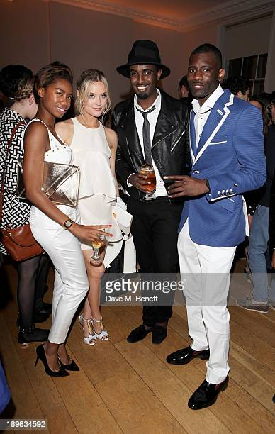 Tolula Adeyemi Laura Whitmore Mason Smillie and Wretch 32 attend the Esquire Summer Party in association with Stella Artois at Somerset House on May...