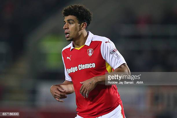 Tom Adeyemi of Rotherham United during the Sky Bet Championship match between Rotherham United and Burton Albion at The New York Stadium on December...