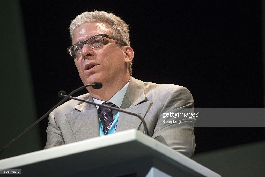Tom Albanese, chief executive officer of Vedanta Resources Plc, speaks on the second day of the Investing in African Mining Indaba in Cape Town, South Africa, on Tuesday, Feb. 9, 2016. With many miners battling to stay afloat, fewer are willing to shell out 1,140 pounds ($1,641) for the Investing in African Mining Indaba conference in South Africa and business-class airfare. Photographer: Waldo Swiegers/Bloomberg via Getty Images