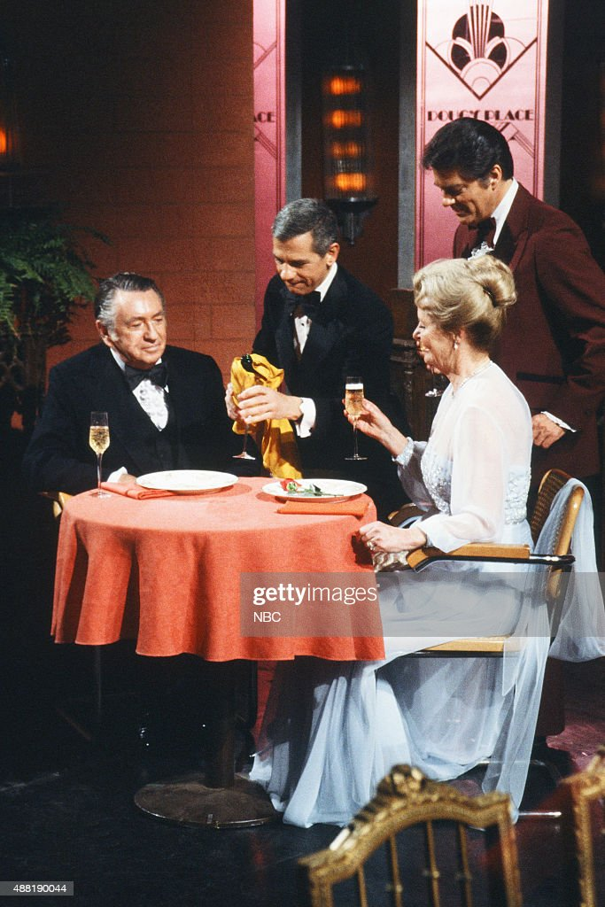 LIVES 'Tom Alice Horton 50th Wedding Anniversary' Pictured Macdonald Carey as Tom Horton Robert Clary as Robert LeClair Bill Hayes as Doug Williams...