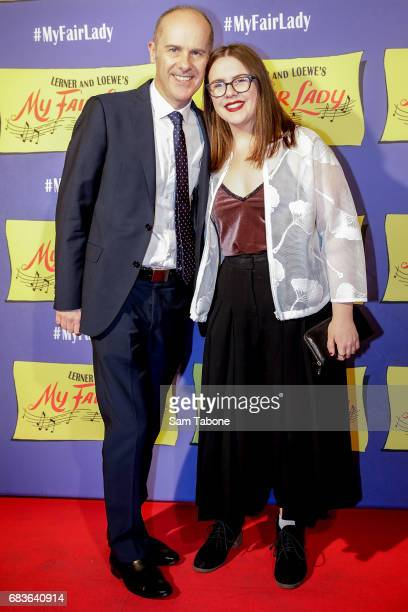 Tom and Annie Gleisner arrives ahead of opening night of My Fair Lady at Regent Theatre on May 16 2017 in Melbourne Australia