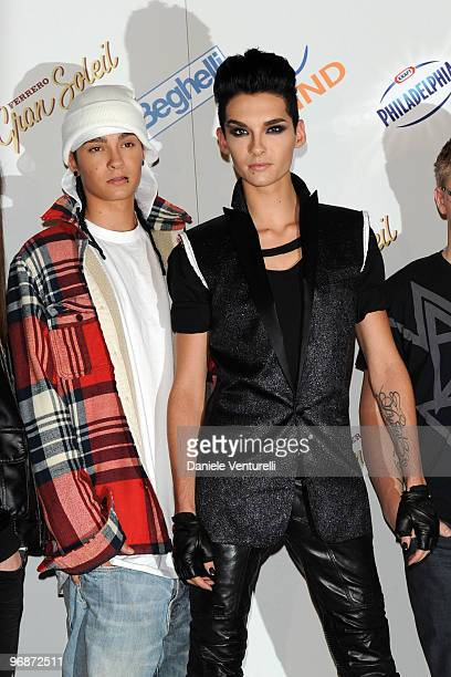 Tom and Bill Kaulitz of Tokio Hotel attend the 60th San Remo Song Festival 2010 Photocall Day 4 on February 19 2010 in San Remo Italy