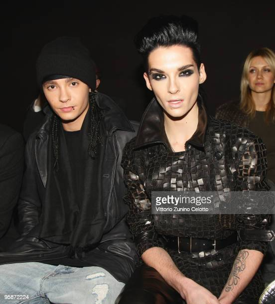 Tom and Bill Kaulitz of Tokio Hotel attend the Z Zegna Milan Menswear Autumn/Winter 2010 show on January 19 2010 in Milan Italy