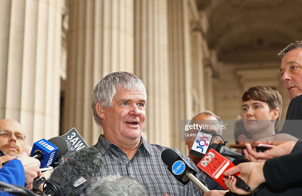 Tom Anderson speaks to the media about the apology to the Victorian Gay community made by Victorian Premier Daniel Andrews at Parliament House on May 24, 2016 in Melbourne, Australia. The state of Victoria is the first government in the world to apologies for laws criminalising homosexuality.