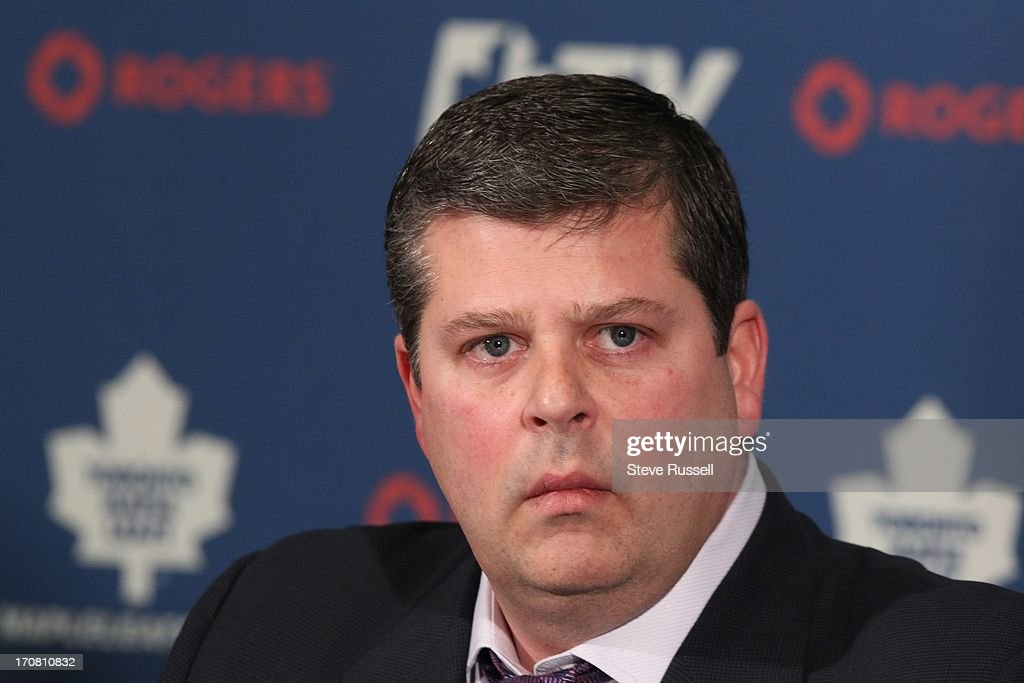 Tom Anselmi announces Dave Nonis, shown, as the new GM after it was announced that Brian Burke was fired in Toronto, January 9, 2013. STEVE RUSSELL/TORONTO STAR