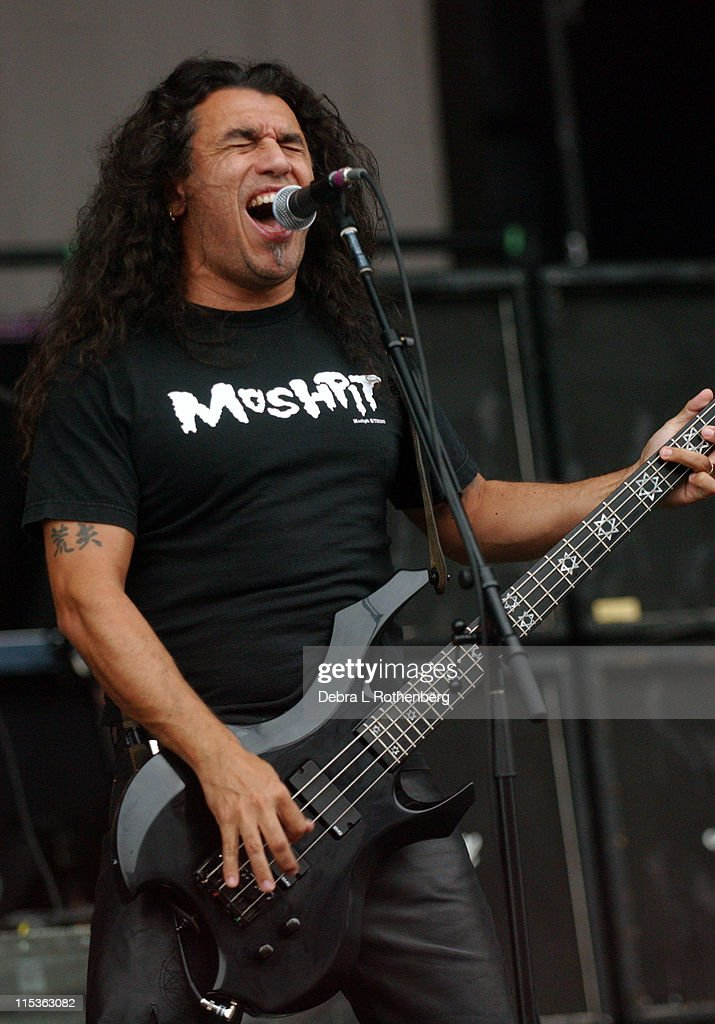 Tom Araya of Slayer during Ozzfest - July 14, 2004 at Jones Beach in Wantaugh, New York, United States.