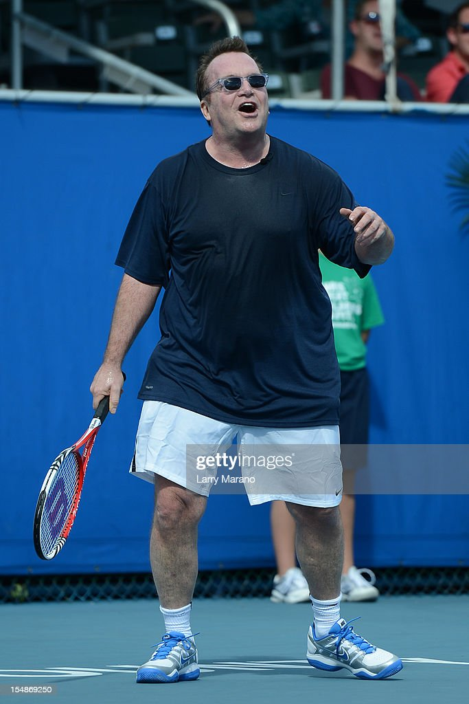<a gi-track='captionPersonalityLinkClicked' href=/galleries/search?phrase=Tom+Arnold&family=editorial&specificpeople=202506 ng-click='$event.stopPropagation()'>Tom Arnold</a> participates in 23rd Annual Chris Evert/Raymond James Pro-Celebrity Tennis Classic at Delray Beach Tennis Center on October 27, 2012 in Delray Beach, Florida.
