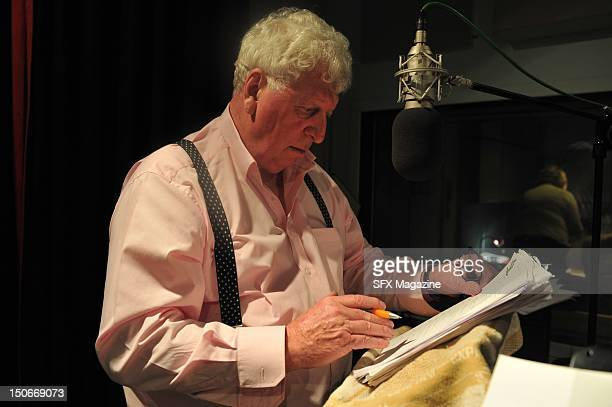 Tom Baker at the BBC studios recording a Doctor Who audiobook London June 23 2009