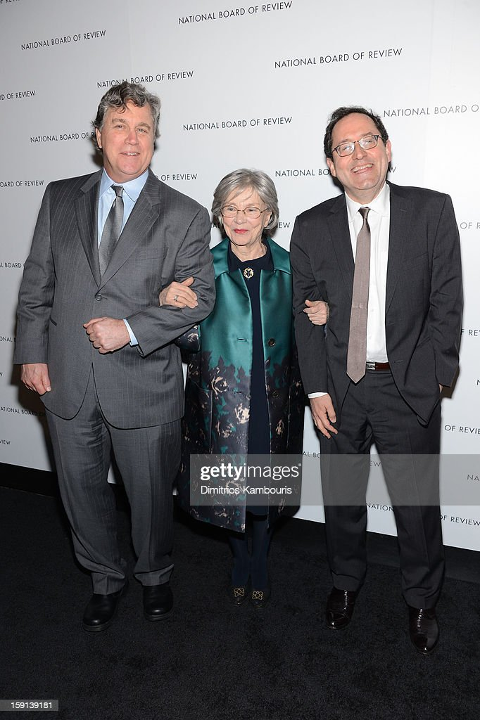 Tom Barnard, Emmanuelle Riva, Sony Pictures Classics co-president Michael Barkerattends the 2013 National Board Of Review Awards Gala at Cipriani 42nd Street on January 8, 2013 in New York City.