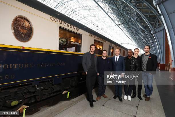 Tom Bateman Josh Gad Kenneth Branagh Leslie Odom Sergei Polunin and Manuel Garc'aRulfo attend the Murder on the Orient Express photo call at St...