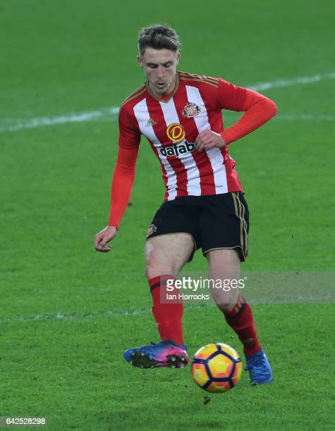 Tom Beadling of Sunderland during the Premier League International Cup Quarter Final match between Sunderland U23 and Athletic Bilbao U23 at the...