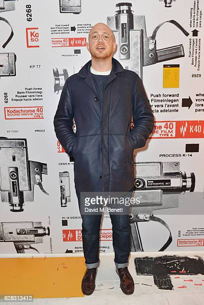Tom Beard attends a private view of his photography exhibition presented by Kodak Blonde To Black Pictures at The Kodakery on December 7 2016 in...