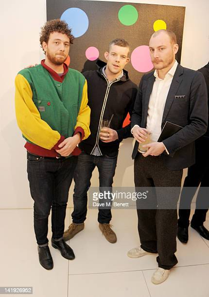 Tom Beard Russell Tovey and James Small attend a private cocktail hosted by Louis Vuitton and GQ Style to celebrate Louis Vuitton Men's Style...