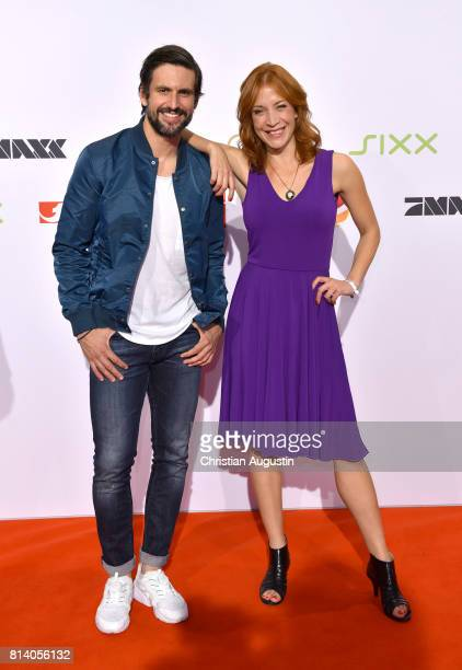 Tom Beck and Annika Ernst attend the program presentation of the television channel ProSiebenSat1 on July 13 2017 in Hamburg Germany