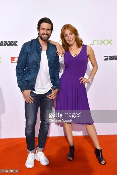 Tom Beck and Annika Ernst attend the program presentation of the television channel ProSiebenSat1 on July 13 2017 in Hamburg Germany