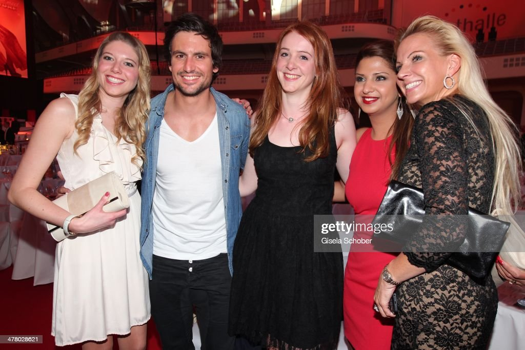 Tom Beck and fans attend the LEA Live Entertainment Award 2014 at Festhalle Frankfurt on March 11 2014 in Frankfurt am Main Germany