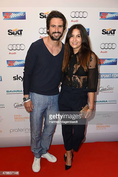Tom Beck and guest attend the Audi Director's Cut at the Praterinsel during the Munich Film Festival at Praterinsel on June 27 2015 in Munich Germany